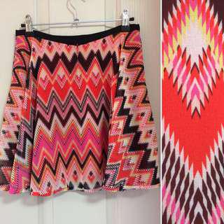 FOREVER NEW Aztec Inspired mini skirt
