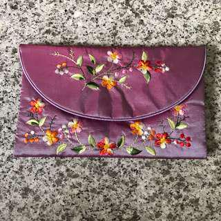 Ethnic embroidery cloth wallet