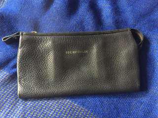 Chole leather long wallet