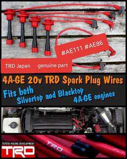 Rare Original TRD Spark Cable 4AGE 20V Blacktop Silvertop