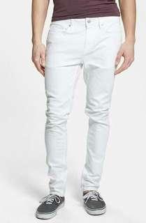 Preloved Topman Light Gray Skinny Denim Pants