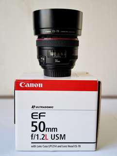 Canon EF 50mm F1.2 L USM (Like New)