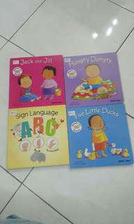 Sign language books (a set of 4 books)
