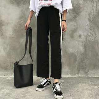 🚚 Black and White Casual Pants
