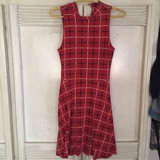Forever 21 Plaid turtle neck dress