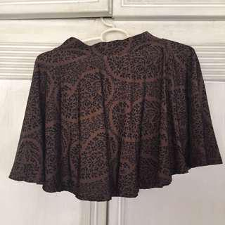 brown with details skater skirt