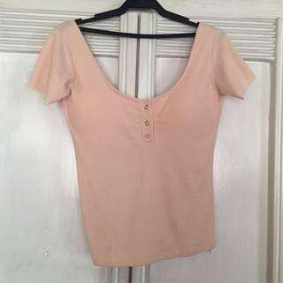 Peach low back top