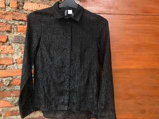 H&M kemeja hitam