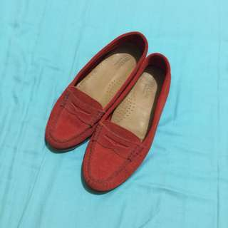 Bass suede loafers