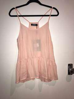 MISSGUIDED BABY PINK CAMI