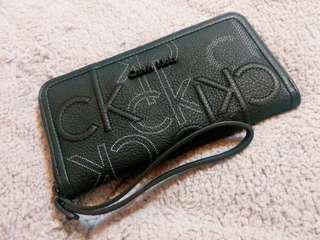 Calvin klein CK長夾錢包手拿包黑色印花Calvin Klein