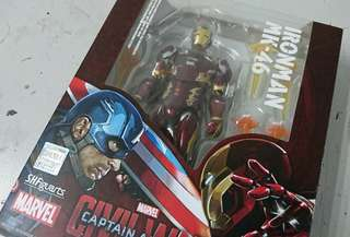 SHF IRON MAN MK46 內戰 美國隊長3 鋼鐵奇俠