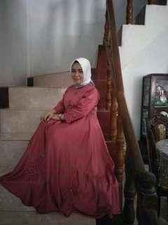 Long dress mutiara