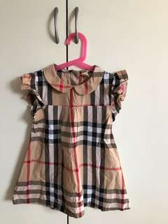 Girls Patterned Dress (Size 120 for 5-6 years old)