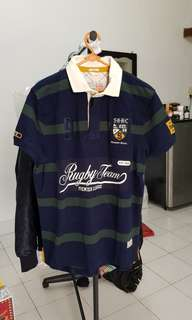Sacoor Brothers size L Rugby Polo Shirt