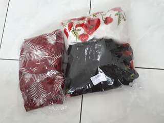 100rb dapat 3 ( jumpsuit, top, dress )