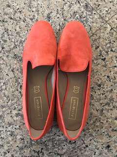 [NEW] Autograph Low-Heel Orange Women's Loafers