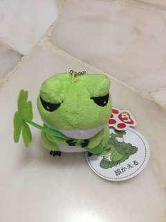 Travel frog with 4 leaf clover
