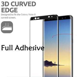 🚚 Samsung Note 8 Full Glue High Sensitivity  Tempered Glass