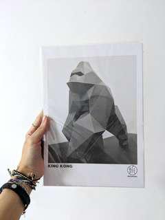 🚚 #Next30 DIY 3D Geometric Gorilla