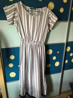 Burberry款渡假女裝直間長裙