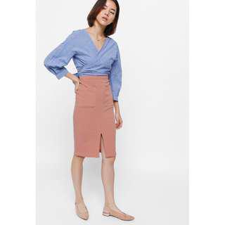 BNWT Love Bonito Pheane Pocket Midi Skirt