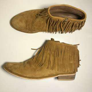 TOP END boho fringe boots