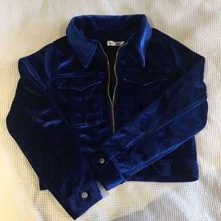 Royal Blue velvet Jacket