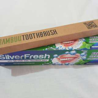 Bambuu and Silver Fresh Toothpaste Combo