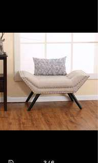 Linen Hotel-Style Boutique Bench