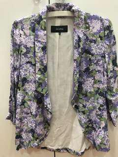 JASPAL purple floral blazer