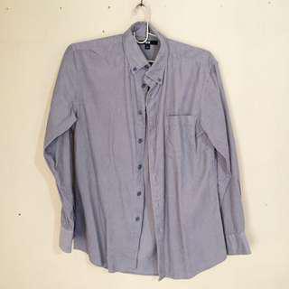 Uniqlo Corduroy Gray Polo Long Sleeves