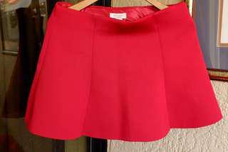 Forever 21 Flare Red Skirt