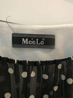 🚚 Mee Lo黑色點點洋裝