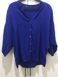 Zara Royal Blue Blouse