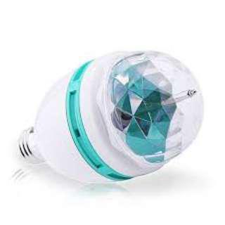 Keimav 3W E27 RGB LED DJ Light Bulb Rotating Lamp (White)