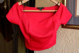 Forever 21 Red cropped top