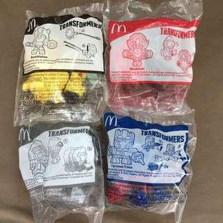 麥當勞開心樂園餐玩具 變形金剛 MCDONALD S TRANSFORMERS