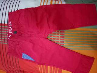 Prelove red trouser for 5-12 months