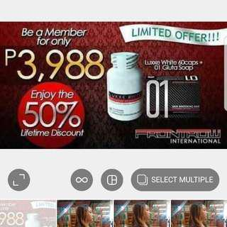 FRONTTROW Limited Sale Membership With Products( Lowest Puhunan Negosyo)