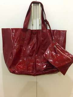 Marni Deep Red Patent Bag