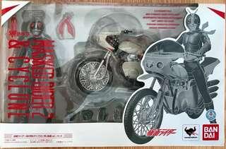 已開封 BANDAI SHF Masked Rider 2 & Cyclone 幪面超人2號 及 旋風號 (盒舊,齊件,關節良好)