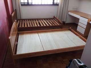 Scanteak super single wooden bedframes for sale