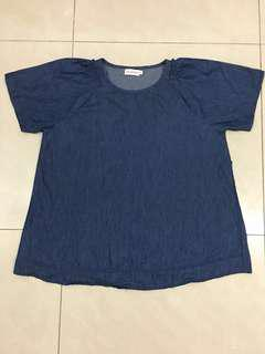 Maternity top maternity blouse Scarlet XXL soft cotton denim top #winikea