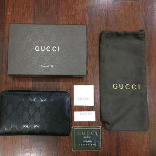 Gucci PVC leather Black Purse