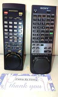 Marantz/Sony LD player remote control.