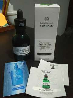 Freong free mask, tea tree the body shop daily solutions serum