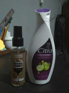 Free obgkir Citra & original source parfume