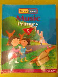 Music Primary 5 小5英文音樂書 Pearson Perfect Match P5 ISBN 9789810610838 小學5年級 Textbook
