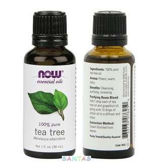 美國 NOW 100% 純淨茶樹精油 30ml NOW 100% Pure & Certified Tea Tree Oils 30ml